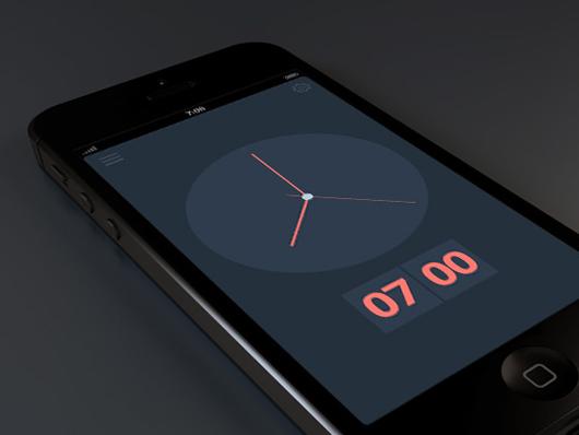 flat-horloge