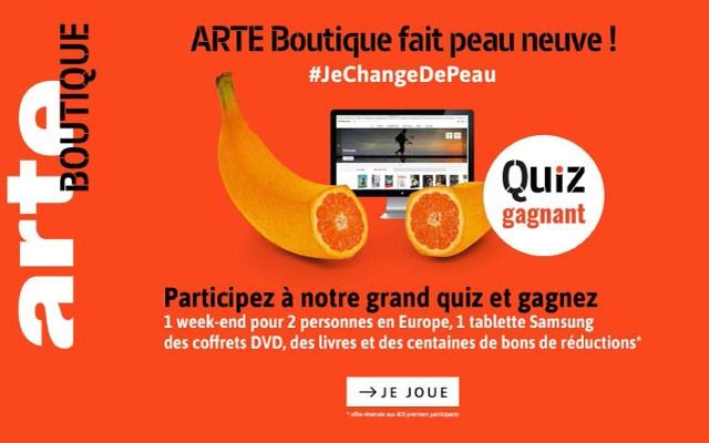ARTE Boutique : notre jeu-concours porté par les réseaux sociaux