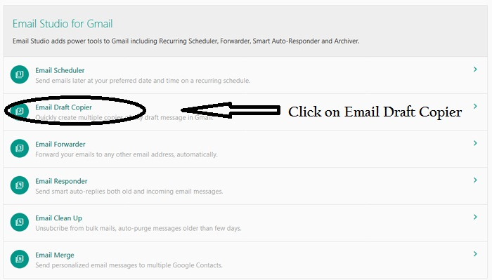 Emails Studio for Gmail Draft