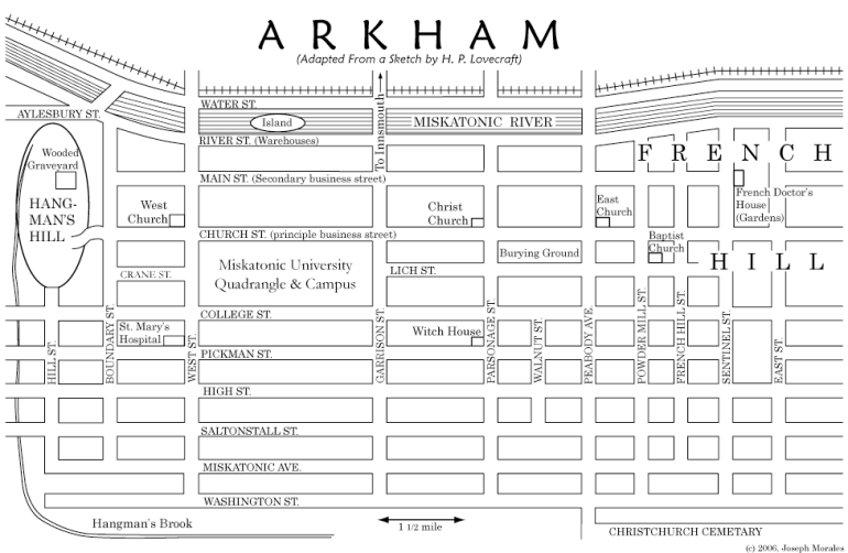 Map of Arkham