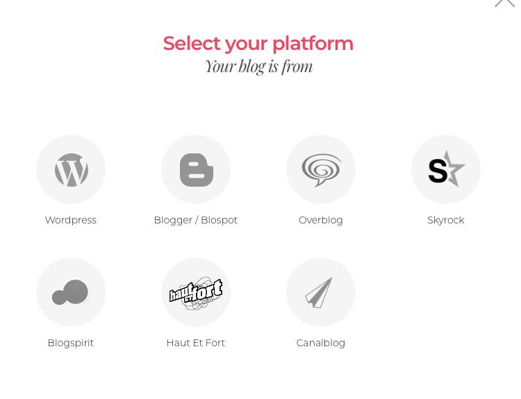 select your platform