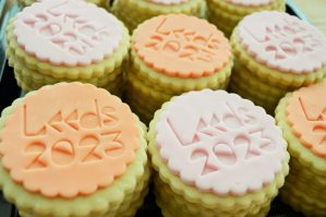 Bloom Bakers made branded biscuits to promote Leeds 2023 bid