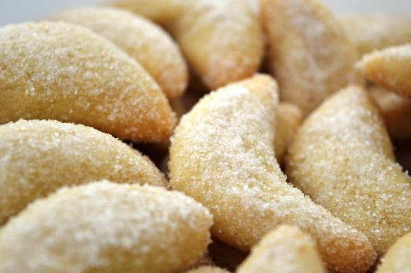 Close up of vanila biscuits baked by bloom bakers