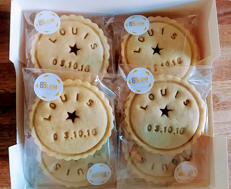 Personalised Christening Biscuits by Bloom Bakers