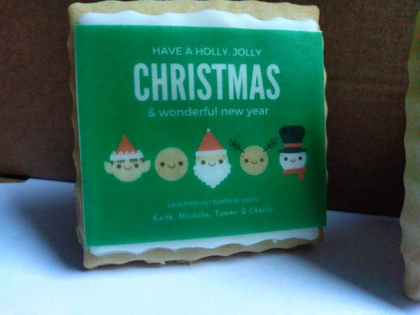 Edible christmas card to send by post