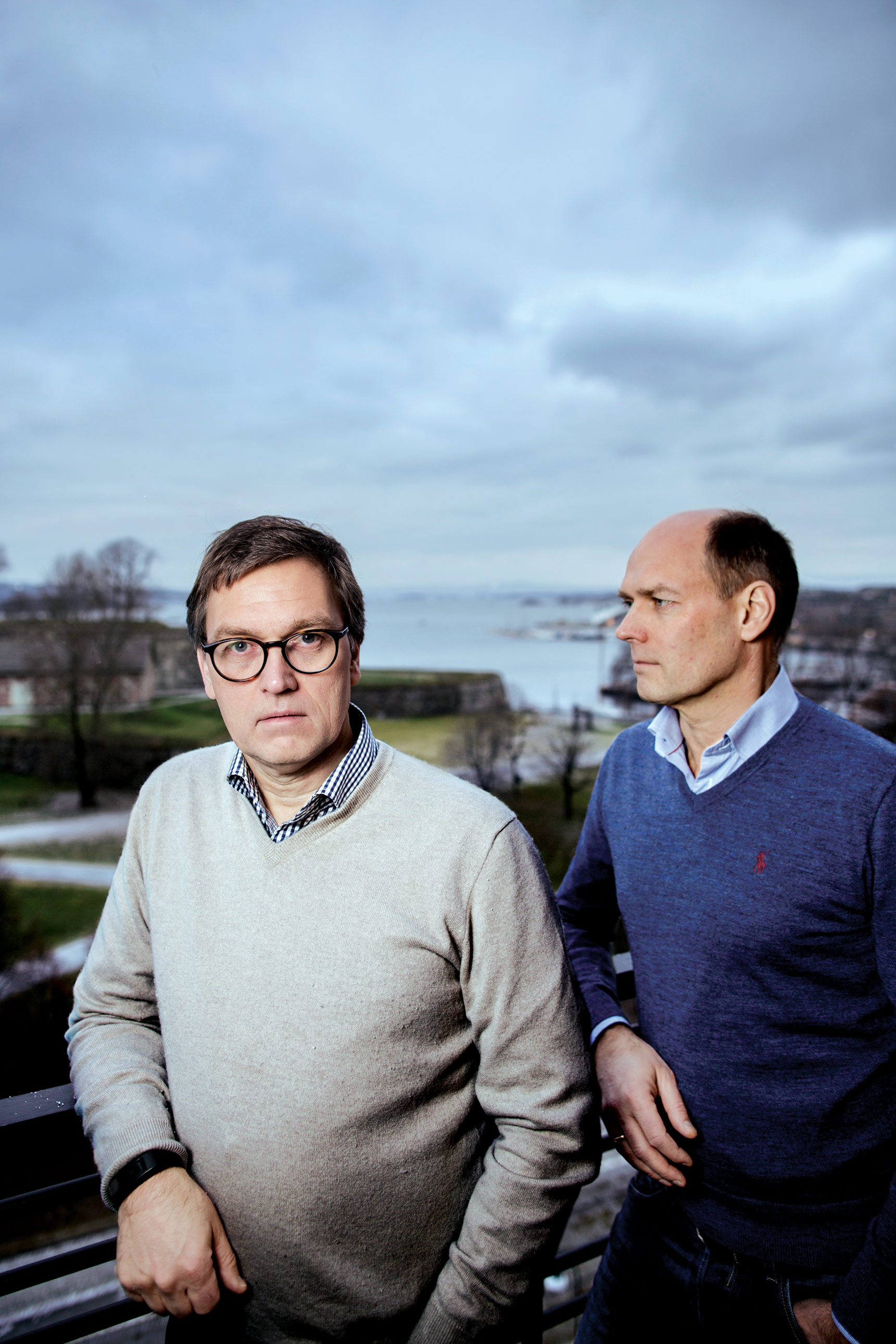 Kristian and Roger Adolfsen at their office in Oslo.