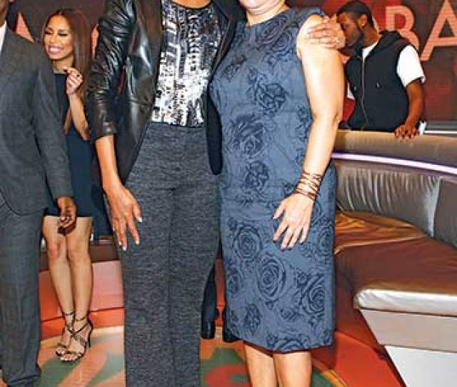 With First Lady Michelle Obama At Bet Studios 2013