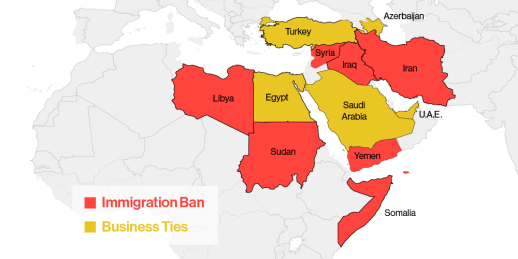 Image result for trump's immigration ban