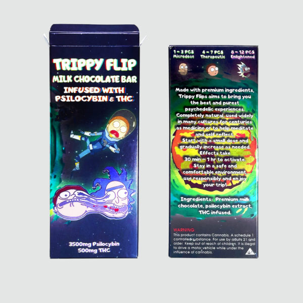 Buy Trippy flip milk chocolate bar Online