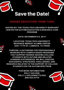 Texas Tech University Higher Education Think Tank