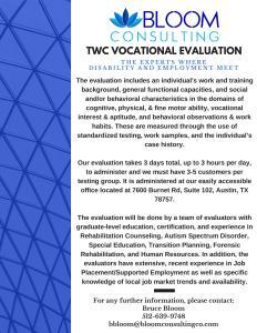 TWC Voc Eval Flyer
