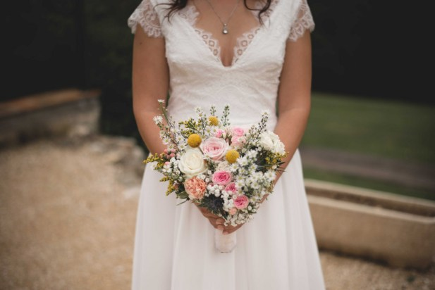 Robe Marie Liesse Créations, bouquet Blooming Augustine, photo Alexandra Rayssac