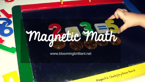 Magnetic Math- Fun manipulatives that help teach little kids to love math.
