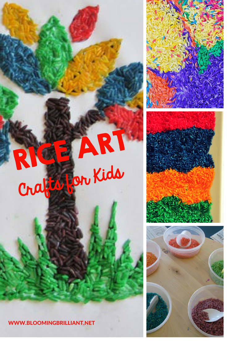 Forget markers or crayons. For areallyunusual art project, close the art supply cabinet, and crack open the pantry! This activity lets kids use colored rice to make pictures. Come let's create Rice Art!