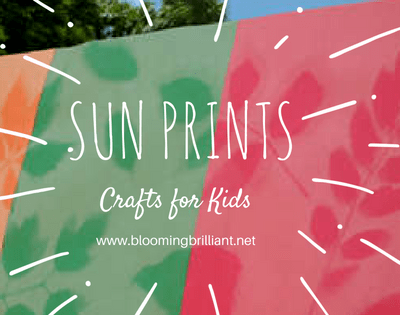 Combine science and art teach your children about light and shadow this spring/ summer by creating sun prints.