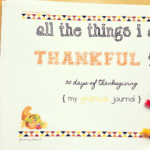 30 Days of Thanksgiving-Thanksgiving Journal