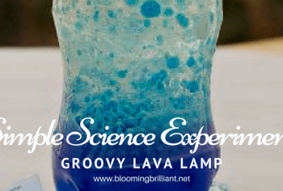Look at the science behind a Groovy Lava Lamp and create our own! Kids will love this super simple science experiment.