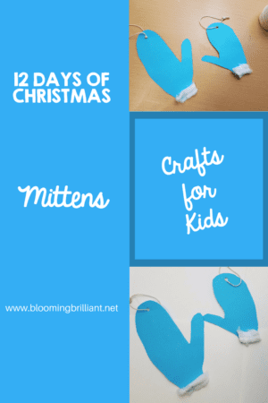 Christmas Crafts- Mitten Craft Looking for a fun craft this winter season for your kids? This mitten craft is adorable and fun and it super easy.