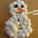 12 Days of Christmas Crafts- Simple Snowman Craft