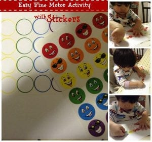 Easy Fine Motor Activity with Stickers