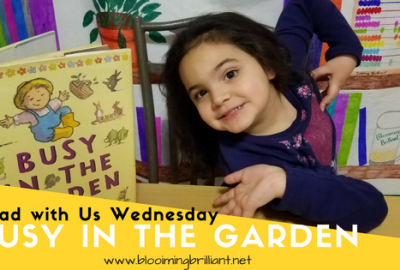 Busy In the Garden introduction to poetry for preschoolers.