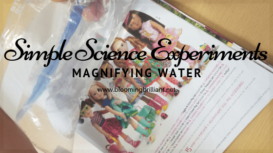 Explore light and refraction in another fun and easy science experiment, Magnifying Water.