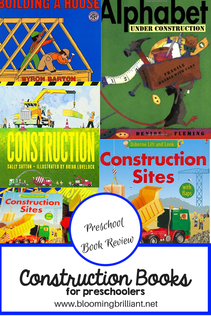Preschoolers seem to love stories about Construction. Check out four of our favorite construction books for preschoolers.