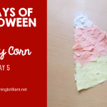 Crafts for Kids- Halloween Candy Corn Craft