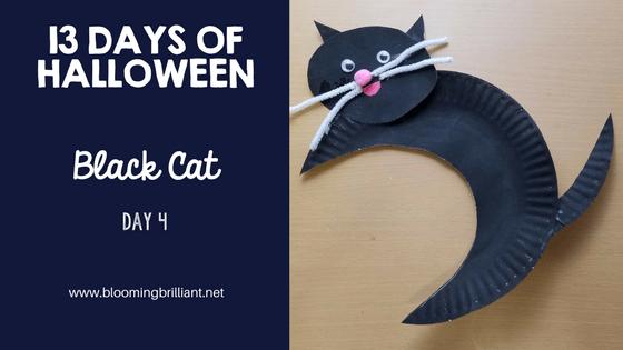Crafts for Kids- Halloween Black Cat Craft! Looking for a fun Halloween Craft for your kids? This Halloween Black Cat Craft is both so simple and fun! #Craftsforkids