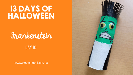Crafts for Kids- Halloween Frankenstein Craft! Looking for a fun Halloween Craft for your kids? This Halloween Frankenstein Craft is so adorable and fun! #CraftsforKids