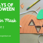 Crafts for Kids- Halloween Pumpkin Mask Craft