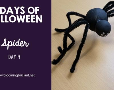 Crafts for Kids- Halloween Spider Craft! Looking for a fun Halloween Craft for your kids? This Halloween Spider Craft is so adorable and fun! #CraftsforKids