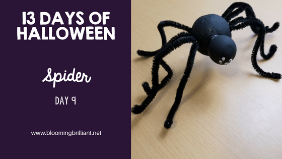 Crafts for Kids- Halloween Spider Craft! Looking for a fun Halloween Craft for your kids? This Halloween Spider Craft is so adorable and fun! #CraftsforKids