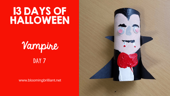 Crafts for Kids- Halloween Vampire Craft! Looking for a fun Halloween Craft for your kids? This Halloween Vampire Craft is so adorable and fun! #CraftsforKids