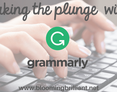 Taking the plunge and finally trying grammarly. How has it improved my writing?