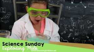 Science Sunday-Exploding Milk