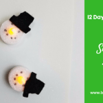 12 Days of Christmas-Snowman Lights Craft for Kids