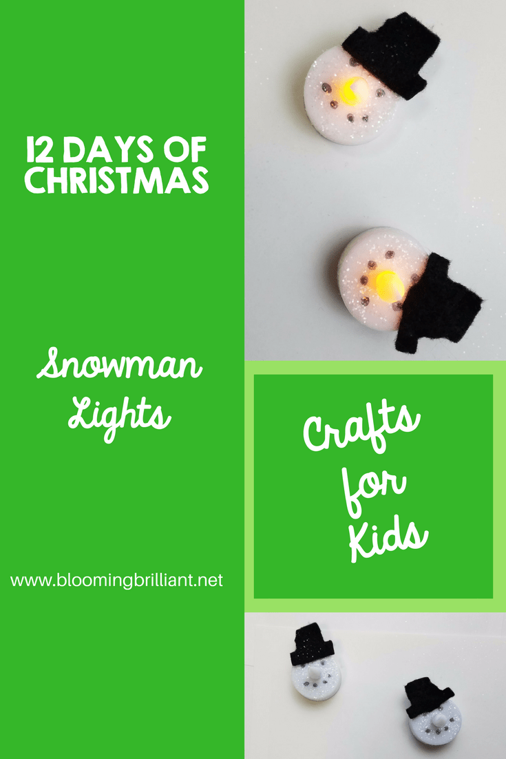 Crafts for Kids- Christmas Crafts- Snowman Light craft. Looking for a fun craft this winter season for your kids? This snowman light craft is adorable and fun and it super easy.