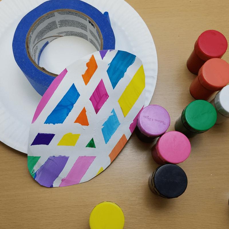 Tape Resist Easter Egg Craft