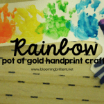Rainbow Pot of Gold Handprint Craft