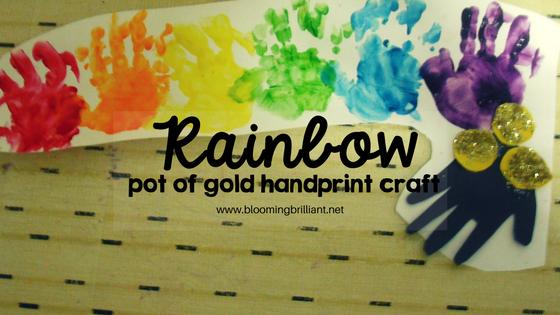 Rainbow Pot of Gold Handprint Craft for kids