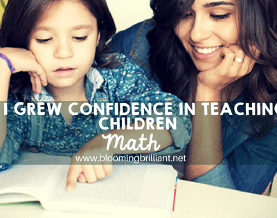 How I grew confidence in teaching my children math