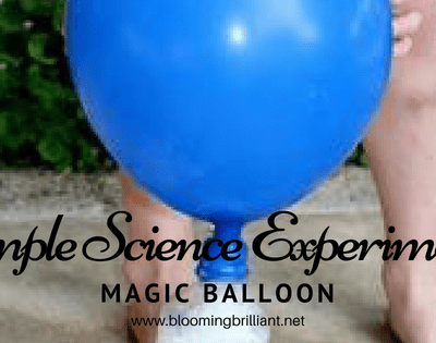 When you mix vinegar and baking soda you create a chemical reaction. Today we are going to observe this chemical reaction in our Magic Balloon experiment.