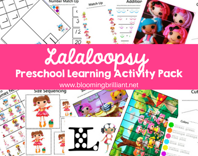 Lalaloopsy Preschool Learning Activity Pack
