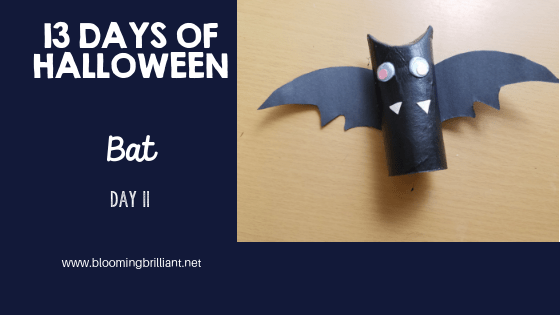 Crafts for Kids- Halloween Bat Craft! Looking for a fun Halloween Craft for your kids? This Halloween Bat Craft is so adorable and fun! #CraftsforKids