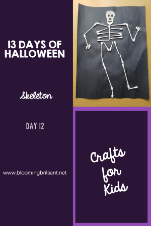 Crafts for Kids- Halloween Skeleton Craft! Looking for a fun Halloween Craft for your kids? This Halloween Skeleton Craft is simple and fun! #CraftsforKids