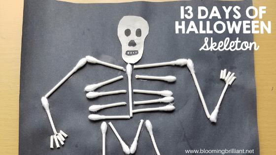 Crafts for Kids- Halloween Skeleton Craft! Looking for a fun Halloween Craft for your kids? This Halloween Skeleton Craft is simple and fun! #CraftsforKids