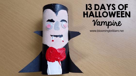 Crafts for Kids- Halloween Vampire Craft! Looking for a fun Halloween Craft for your kids? This Halloween Vampire Craft is so adorable and fun! #CraftsforKids