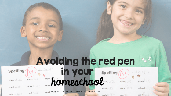 Stop taking away your child's excitement and passion. Avoid using the red pen n your homeschool.