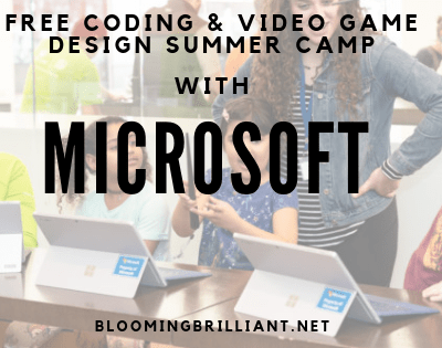 FREE CODING & VIDEO GAME DESIGNSTEM SUMMER CAMP WITH MICROSOFT